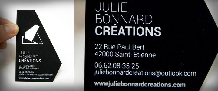 CARTES DE VISITE POUR JULIE BONNARD Srigraphie